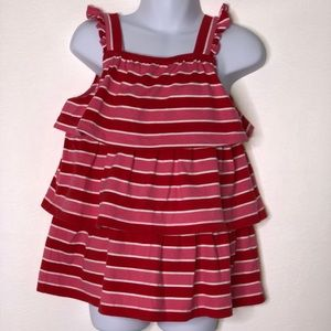 Hanna Andersson girls striped Tiered tank top